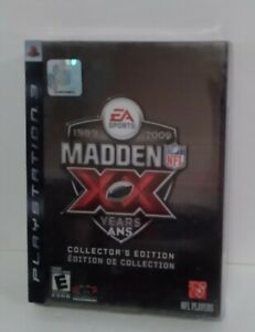Madden 09 NFL XX Anniversary 99-09 Collector's, Edition Head Coach 09 PS3 SEALED