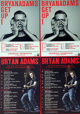 BRYAN ADAMS FLYERS X 4 - GET UP TOUR - WAKING UP THE NEIGHBOURS 20th ANNIVERSARY