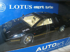 1/18 Auto Art - 1981 LOTUS ESPRIT TURBO - RHD - BLACK - NEW