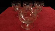Service de 6 coupes à champagne en cristal de Saint Louis modèle Ligier 5084