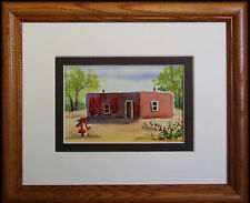 New Mexico Southwestern Adobe, Original Miniature Watercolor by Vivian Ashcraft