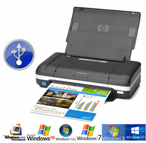 MOBILER DRUCKER HP OFFICEJET H470 USB FÜR WINDOWS XP 7 8 MIT AKKU + POWER SUPPLY