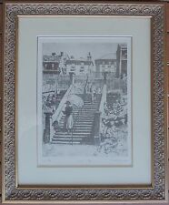 "Lionel Lindsay Limited edition print ""Essex Steps"" Australian icon"