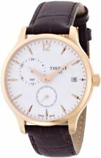 Tissot T0636393603700 Tradition Rose Gold-Tone Gmt Mens Watch