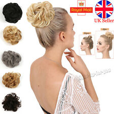 Curly Messy Hair Bun Piece Updo Scrunchie Fake Natural Bobble Hair Extensions,UK