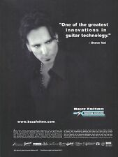 Steve Vai Buzz Feiten Tuning Systems 2002 Promo Poster Ad