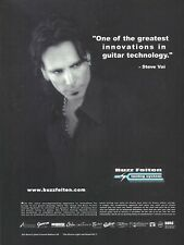 Steve Vai Buzz Feiten Tuning Systems 2002 8x11 Promo Poster Ad