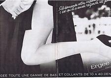 PUBLICITE ADVERTISING 084 1979 ERGEE bas et collants 10 à 40 deniers (2 pages)