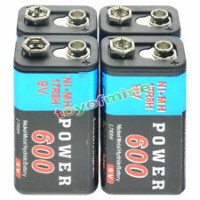 4pcs Durable 9V 9 Volt 600mAh Power Ni-Mh Rechargeable Battery Cell PPS block