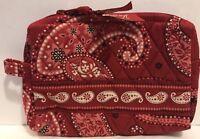 Vera Bradley Small Cosmetic Bag Mesa Red Pattern Rare Retired