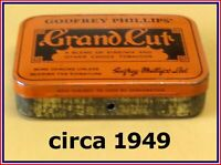 Vintage Tobacco Tin 🚬 circa 1949 🚬 Grand Cut 🚬 Godfrey Phillips' ⭐⭐ ⭐⭐⭐