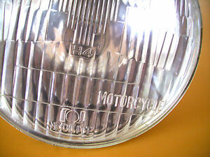 "Lucas Copy 7"" Halogen HEADLIGHT Lens Right Hand Drive Triumph BSA Norton Enfield"