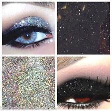 Glitter Eyes - Duo Silver & Black Holographic Eye Shadow Fixing gel Long Lasting