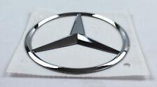 Mercedes-Benz Stern Emblem Sticker selbstklebend chrom Logo Kleber 85mm