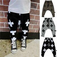 Kids Boys Girl Harem Pants Casual Sweatpants Sports Slacks Trousers Age 2-7 Year