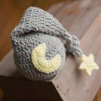 Newborn Baby Photography Prop Baby Knit Long Tail Hat Crochet Warm Star Moon Cap
