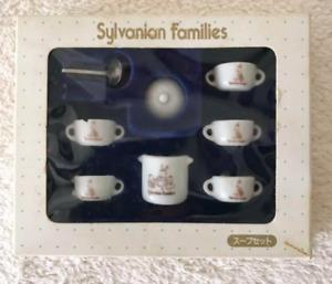 Sylvanian Families SOUP SET White Pottery KA-38 1986 Calico Critters Epoch Japan