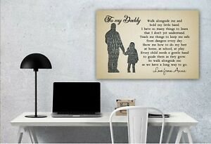 Personalized Poster Birthday gift for Daddy Father's Day Gift Walk Alongside Me