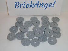 NEW LEGO Light Bluish Gray 4X4 Round Plates Lot of 30 Pieces 60474 Medium Stone