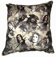 Pirates Of The Caribbean Pillow Captain Jack Sparrow Pillow Handmade In USA