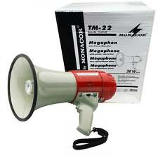 Monacor Loud Pistol Grip 20W Megaphone with Siren and Volume Control