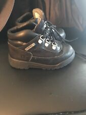 Timberland Toddler 6in Field Black On Black Sz9 Boot