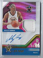 MYLES TURNER 2017-18 PANINI VANGUARD V-TEAM JERSEY PATCH AUTO AUTOGRAPH #/99