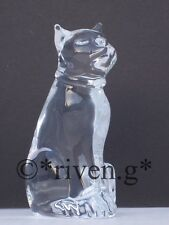 CAT Figurine@PREMIUM CRYSTAL Glass PUSSY CAT@Collectable Gift@SITTING PET KITTY