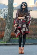 TOPSHOP BROWN AZTEC NAVAJO BLOGGERS BLANKET CAPE PONCHO ONE SIZE 8 10 12 14 16