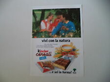 advertising Pubblicità 1989 KINDER CEREALI
