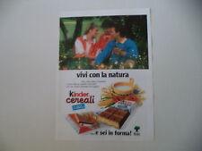 advertising Pubblicità 1989 KINDER CEREALI