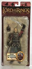 """LOTR Lord Rings The Two Towers King Theoden Sword Armor 6"""" Action Figure Toybiz"""