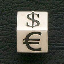 Euro Money Dollar Sign Beads Stainless Steel Fit European Charm Bracelets Black
