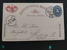MEXICO - POSTAL CARD Mailed Locally (1894)