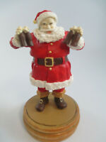 Coca-Cola Willitts Wooden Holiday Christmas Ornament Santa with Coke Bottles