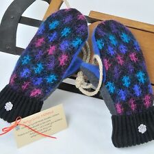 Sweater Mittens Felted Wool Cashmere Mohair Blend Fleece Lined Handmade USA Warm