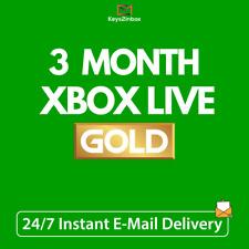 Xbox Live código de Membresía Dorada por 3 Meses Gold Xbox One-Xbox 360 instantáneo