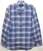 Polo Ralph Lauren Big Tall Mens 2XLT Blue Pink Plaid Button-Front Shirt NWT 2XLT