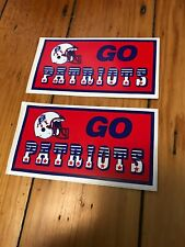 Deadstock 80s New England Patriots GO Decal Stickers Vintage NFL Football