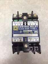 SQUARE D 8501S0-40A 4 POLE CONTROL RELAY, TYPE L SERIES A WITH 120 VOLT COIL