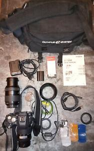 Kit appareil photo numérique Olympus E-500 SLR 8 M/ 2 objectifs - Champignons