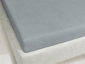 Baby Nursery Bedding Jersey Cotton Fitted sheets 2Pack for Cot - Grey