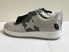 A BATHING APE Bape Sta Foot Soldier FS-001 Grey Sneakers Shoes Size 10.5 US