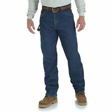 Wrangler Men's Riggs Workwear Flame Resistant Carpenter Jean, Denim, 40x32