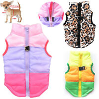 Autumn Winter Pet Vest Pet Puppy Dog Cat Warm Padded Coat Harness Zip Jacket