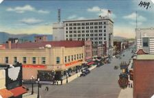 Postcard Central Ave and Fourth St Heart Albuquerque NM