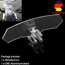 Motorrad Einstellbare Clar Windschutzscheibe Spoiler Windabweiser Windschild