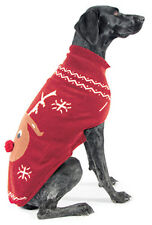 CHRISTMAS DOG SWEATER ANCOL REINDEER VARIOUS SIZES XXS - XS - SMALL & MEDIUM PET