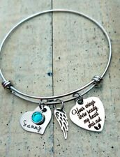 Personalized Name Pregnancy loss Memorial Angel Wing Wire Bracelet mothers gift
