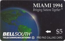 TK Telephonkarte/Phone Card Bell South Bringing Nations Together Earth Globe 5$